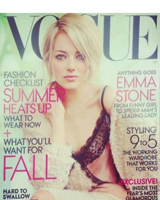 Emma Stone's new <em>Vogue</em> cover.
