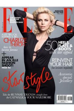 Charlize Theron for <em>Elle</em> South Africa.