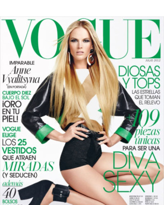 Anne Vyalitsyna's new <em>Vogue</em> Mexico cover.