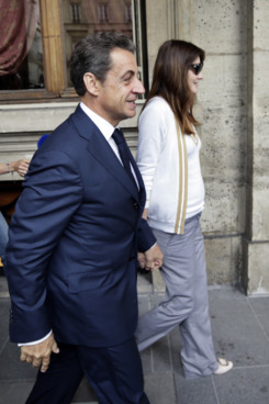 Sarko and Carla yesterday.