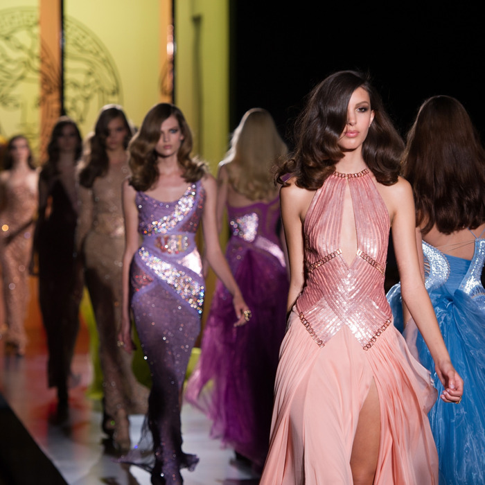 Versace's fall 2012 couture show.
