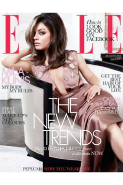 Mila Kunis for <em>Elle</em> UK.