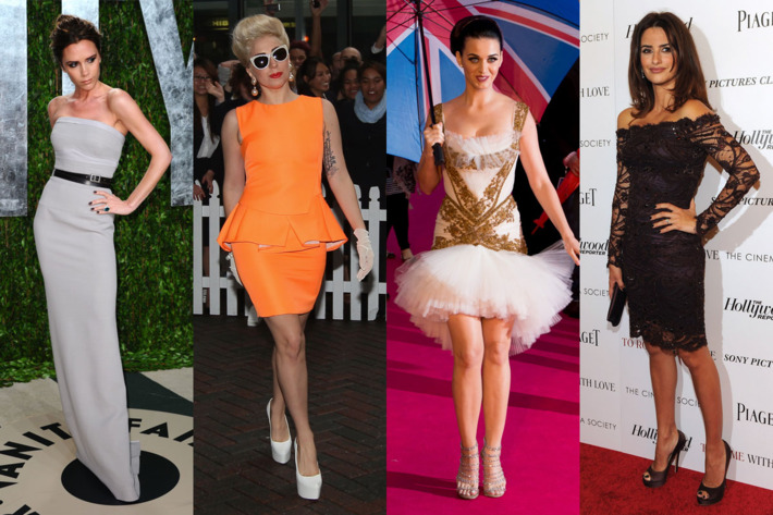 Cover girls Victoria Beckham, Lagy Gaga, Katy Perry, and Penelope Cruz.