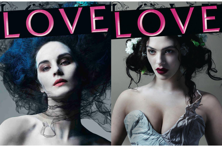 Michelle Dockery and Jessica Brown Findlay for <em>Love</em>.