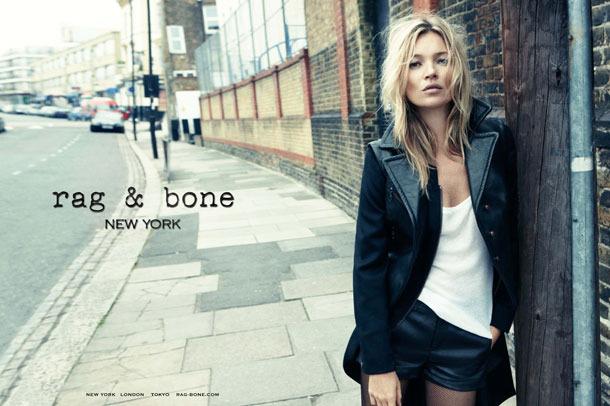 Kate Moss for rag & bone.