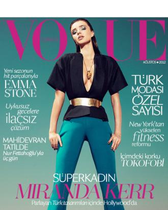 Miranda Kerr for <em>Vogue</em> Turkey.