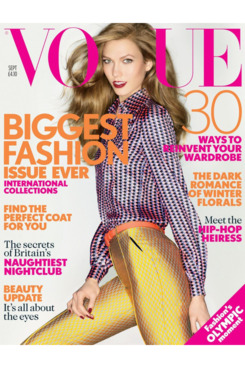 Karlie Kloss for British <em>Vogue</em>.