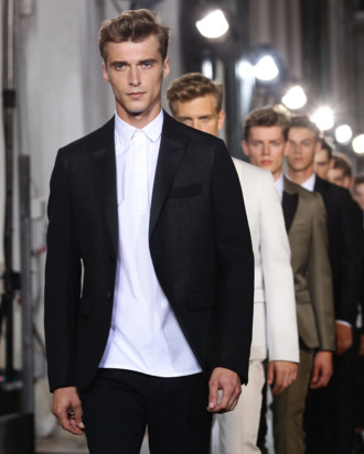 These are models at Pitti Uomo.