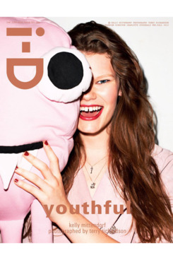 """Kelly Mittendorf for one of <em>i-D</em>'s """"Just Kids Issue"""" covers."""