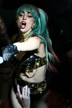 SYDNEY, AUSTRALIA - JULY 12:  Lady Gaga plays live on stage at Arq nightclub on July 12, 2011 in Sydney, Australia.  (Photo by Don Arnold/WireImage)