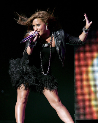 SAN ANTONIO - SEPTEMBER 10: Vocalist Demi Lovato performs in concert at the AT&T Center on September 10, 2010 in San Antonio, Texas. (Photo by Gary Miller/FilmMagic)