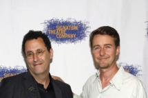 """Tony Kushner, Edward Norton== Opening Night Of Tony Kushner's """"The Illusion"""", Arrivals== West Bank Cafe NYC== June 05, 2011== ?Patrick McMullan== photo - Sylvain Gaboury/PatrickMcMullan.com== =="""