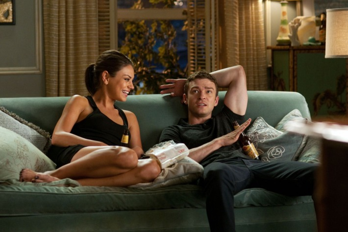"Mila Kunis as ""Jaime"" and Justin Timberlake as ""Dylan"" in Screen Gems' FRIENDS WITH BENEFITS."