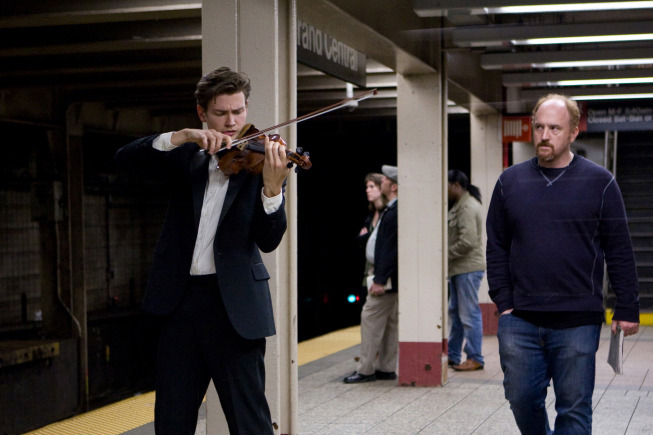 LOUIE: L-R: Filip Pogady and Louis C.K. in the LOUIE episode SUBWAY airing Thursday, July 28 (10:00PM ET) on FX. CR: FX