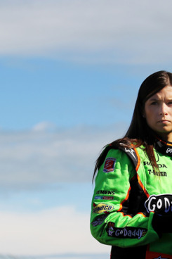 EDMONTON, AB - JULY 23:  Danica Patrick driver of the #7 Team GoDaddy Andretti Autosport Dallara Honda prepares for practice for the IZOD IndyCar Series Indy Edmonton at Edmonton City Centre Airport on July 23, 2011 in Edmonton, Alberta, Canada.  (Photo by Nick Laham/Getty Images)