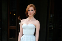 "Jessica Chastain attends ""The Debt"" screening at the Tribeca Grand Hotel - Screening Room on August 22, 2011 in New York City.  (Photo by Andy Kropa/Getty Images)"