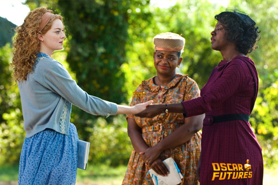 """THE HELP""                  946_D_08558R                  In Jackson, Mississippi in 1963, (left to right) Skeeter Phelan (Emma Stone), Minnie Jackson (Octavia Spencer) and Aibileen Clark (Viola Davis) together take a risk that could have profound consequences for them all in DreamWorks Pictures' drama, ""The Help"", based on the New York Times best-selling novel by Kathryn Stockett.                  Ph: Dale Robinette                  ?DreamWorks II Distribution Co., LLC. ?All Rights Reserved."