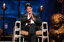 LOS ANGELES, CA - SEPTEMBER 10:  Roastee Charlie Sheen speaks onstage at Comedy Central's Roast of Charlie Sheen held at Sony Studios on September 10, 2011 in Los Angeles, California.  (Photo by Christopher Polk/Getty Images)