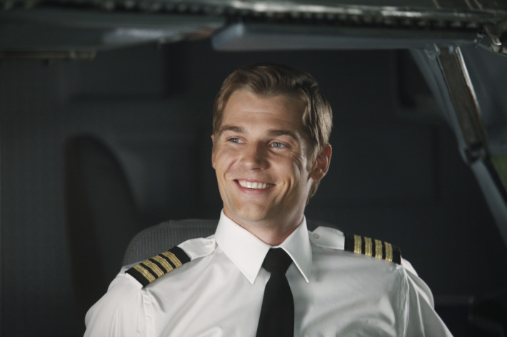 """PAN AM - """"Pilot"""" - In the premiere episode, """"Pilot,"""" Dean takes on his first assignment since his promotion, piloting the Clipper Majestic on its inaugural New York to London flight. Bridget is supposed to be his lead stewardess, until she's a no-show for the flight. Grounded purser Maggie is called in to fill in for her. On the same fateful flight, Kate adds another dimension to her work as she takes on her first assignment from U.S. intelligence. Her stress is compounded when she discovers that newly minted stewardess, Laura, her sister, is also working the same flight in the highly anticipated new series, """"Pan Am,"""" premiering SUNDAY, SEPTEMBER 25 (10:01-11:00 p.m., ET), on the ABC Television Network. (ABC/ERIC LIEBOWITZ)         MIKE VOGEL"""