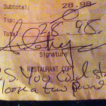 The receipt that started it all.