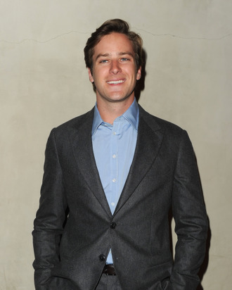 LOS ANGELES, CA - OCTOBER 11: Actor Armie Hammer arrives at the Giorgio Armani / Vanity Fair private dinner on October 11, 2011 in Los Angeles, California. (Photo by Jason Merritt/Getty Images for Giorgio Armani)