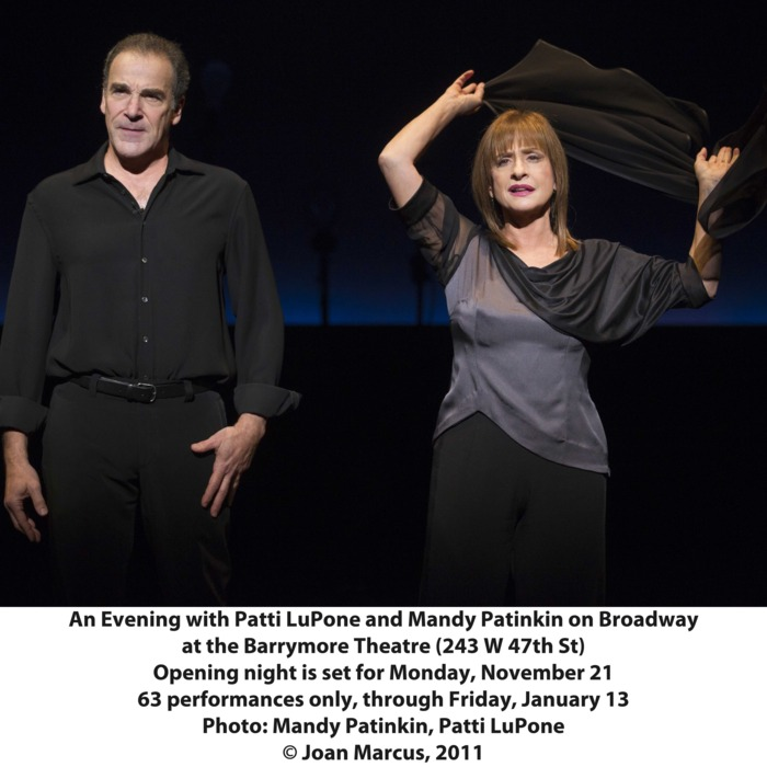 An Evening with Patti Lupone an Mandy Patinkin