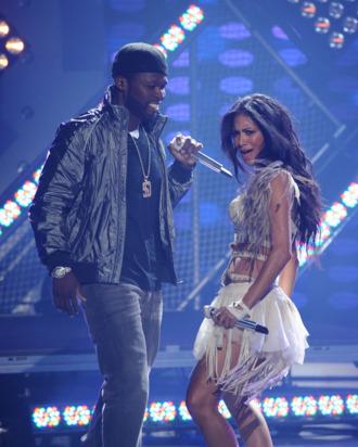 AMERICAN IDOL: L-R: 50 Cent and Nicole Scherzinger perform on AMERICAN IDOL Thursday, May 19 (8:00-9:00 PM ET/PT) on FOX. CR: Michael Becker / FOX.