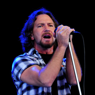 LONDON, ENGLAND - JUNE 25: Eddie Vedder of Pearl Jam performs during day 1 of the Hard Rock Calling festival held in Hyde Park on June 25, 2010 in London, England. (Photo by Gareth Cattermole/Getty Images) *** Local Caption *** Eddie Vedder