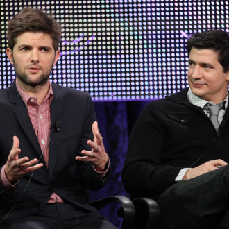 PASADENA, CA - JANUARY 16: Actors Adam Scott (L) and Ken Marino of the television show