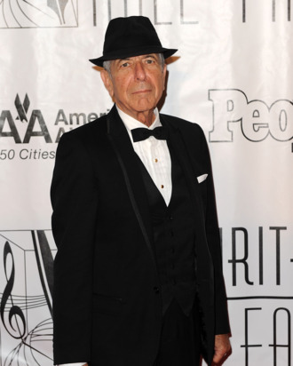 NEW YORK - JUNE 17: Singer/songwriter Leonard Cohen attends the 41st annual Songwriters Hall of Fame at The New York Marriott Marquis on June 17, 2010 in New York City. (Photo by Stephen Lovekin/Getty Images) *** Local Caption *** Leonard Cohen