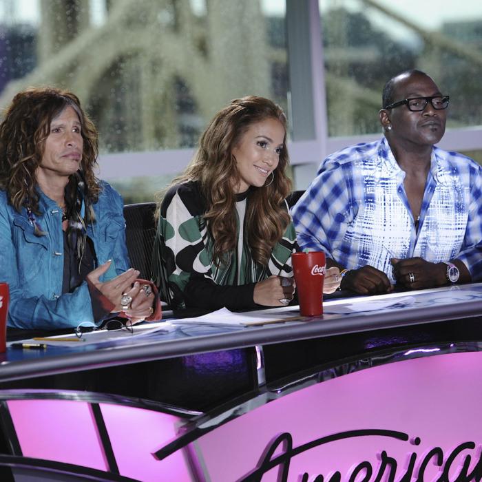 AMERICAN IDOL: L-R: Steven Tyler, Jennifer Lopez and Randy Jackson on AMERICAN IDOL airing Thursday, Jan. 19 (8:00-9:00 PM ET/PT) on FOX.