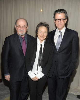 Salman Rushdie, Laurie Anderson, Kurt Andersen== PRATT INSTITUTE LEGENDS 2011== 7 World Trade Center, NYC== November 1, 2011== ? Patrick McMullan== Photo - Patrick McMullan/ PatrickMcMullan.com== ==