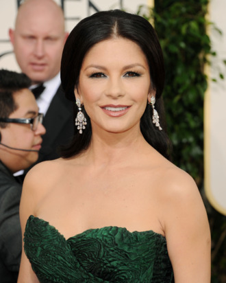 BEVERLY HILLS, CA - JANUARY 16: Actress Catherine Zeta-Jones arrives at the 68th Annual Golden Globe Awards held at The Beverly Hilton hotel on January 16, 2011 in Beverly Hills, California. (Photo by Jason Merritt/Getty Images) *** Local Caption *** Catherine Zeta-Jones