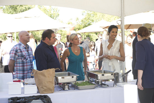Cat Cora came for the party.