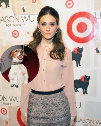 Actress Emmy Rossum/Uggie the dog