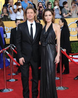 Brad Pitt, Angelina Jolie==18th Annual Screen Actors Guild Awards==Shrine Auditorium, Los Angeles, CA==January 29, 2012==?Patrick McMullan==Photo - ANDREAS BRANCH/PatrickMcMullan.com==