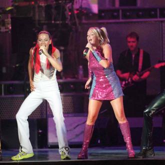 The Spice Girls (L to R) Melanie Brown, Melanie Chisholm, Emma Bunton and Victoria Adams