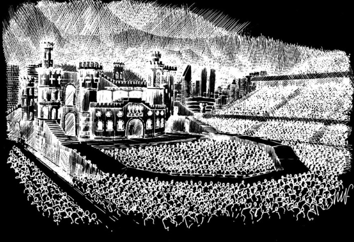 See a Sketch of Lady Gaga's Projected Setup for the Born