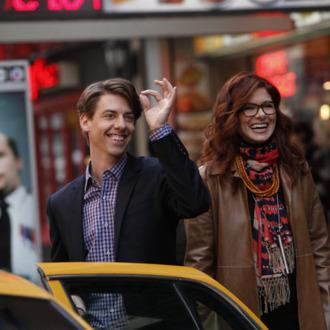 SMASH -- Pilot -- Pictured: (l-r) Christian Borle as Tom Levitt, Debra Messing as Julia Houston-- Photo by: Will Hart/NBC