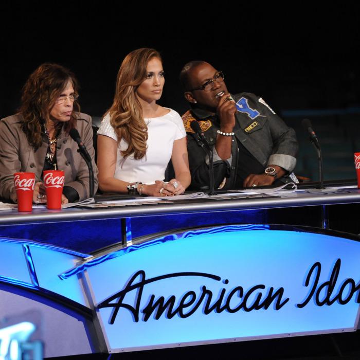 AMERICAN IDOL: Hollywood: L-R: Steven Tyler, Jennifer Lopez and Randy Jackson on AMERICAN IDOL airing Wednesday, Feb. 15 (8:00-10:00 PM ET/PT) on FOX.