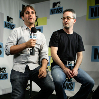 Producers Roberto Orci (L) and Alex Kurtzman at the MySpace & MTV Tower at Comic Con