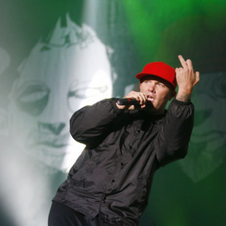 Fred Durst, singer of the US band Limp Bizkit performs on stage at the music festival
