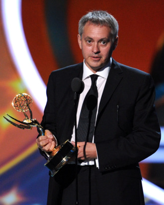 LOS ANGELES, CA - SEPTEMBER 18: Director Brian Percival accepts the Outstanding Directing for a Miniseries, Movie or a Dramatic Special award onstage during the 63rd Annual Primetime Emmy Awards held at Nokia Theatre L.A. LIVE on September 18, 2011 in Los Angeles, California. (Photo by Kevin Winter/Getty Images)