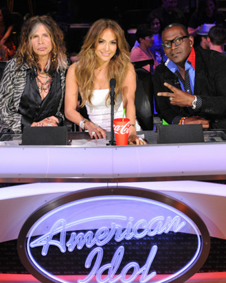 AMERICAN IDOL: L-R: Steven Tyler, Jennifer Lopez and Randy jackson on AMERICAN IDOL