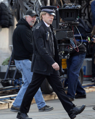 Actor Javier Bardem pictured shooting a scene for the new James Bond movie 'Skyfall' in London, UK on March 11, 2012. Javier Bardem plays the baddie.