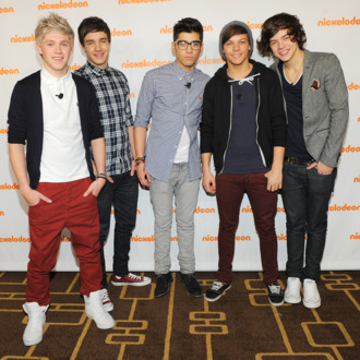 NEW YORK, NY - MARCH 14: (L-R) Musicians Niall Horan, Liam Payne, Zayn Malik, Louis Tomlinson, and Harry Styles of One Direction attend the 2012 Nickelodeon Upfront presentation at Rose Theater, Jazz at Lincoln Center on March 14, 2012 in New York City. (Photo by Larry Busacca/Getty Images)