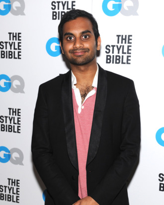 Actor Aziz Ansari attends GQ And John Slattery Celebrate The Launch Of The April 2012 Issue