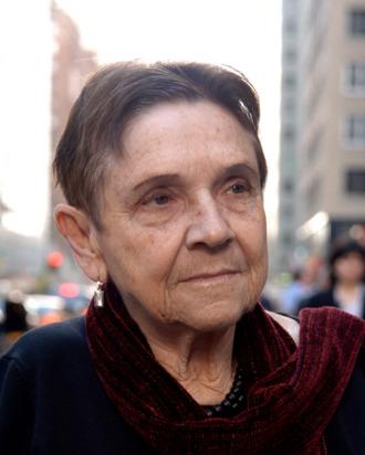 American poet, essayist and feminist Adrienne Rich outside the Warwick Hotel on November 17, 2006
