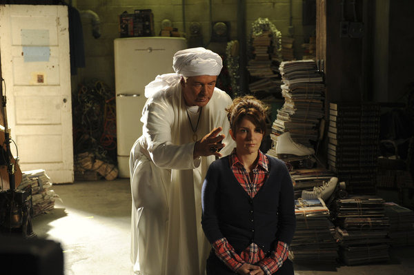 "30 ROCK -- ""The Shower Principle"" Episode 615 -- Pictured: (l-r) Alec Baldwin as Jack Donaghy, Tina Fey as Liz Lemon."