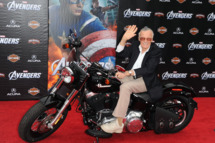 """HOLLYWOOD, CA - APRIL 11:  Writer/producer Stan Lee arrives at the premiere of Marvel Studios' """"The Avengers"""" at the El Capitan Theatre on April 11, 2012 in Hollywood, California.  (Photo by Kevin Winter/Getty Images)"""